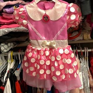 Other - 2t Minnie Mouse costume dress with headband.